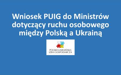 Wniosek PUIG do Ministrów dotyczący ruchu osobowego między Polską a Ukrainą