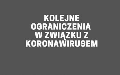 Kolejne ograniczenia w związku z koronawirusem w Polsce