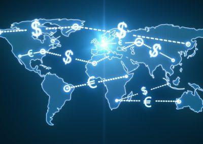 map world money traffic concept